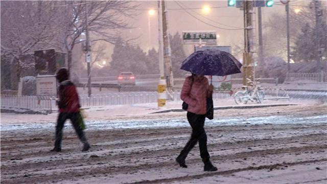 沈陽迎來今冬首場降雪