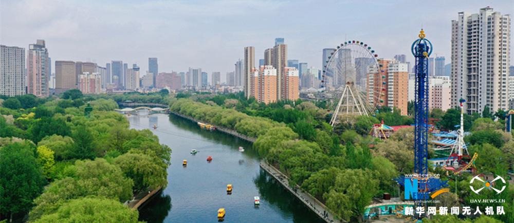 """航拍沈陽南湖公園丨建在市區內的""""綠洲"""""""